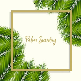 Niedziela palmowa w tle