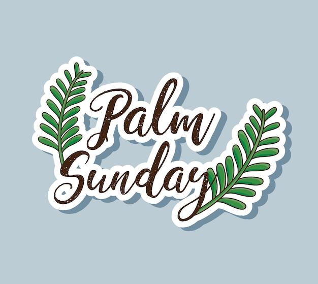 Niedzielne gałęzie palmowe do tradycyjnej religii
