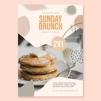 Niedzielny brunch plakat restauracji żywności