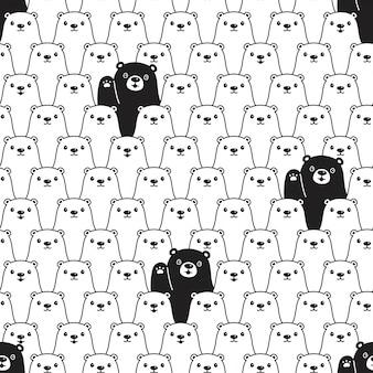 Niedźwiadkowa bezszwowa deseniowa biegunowa ilustracja