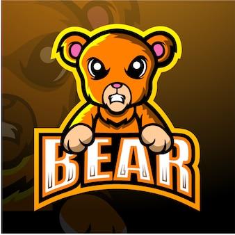 Niedźwiadkowa maskotki esport ilustracja