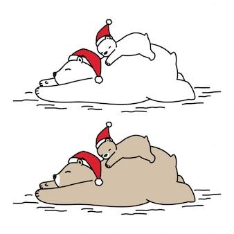 Niedźwiedź boże narodzenie kreskówka dla dzieci