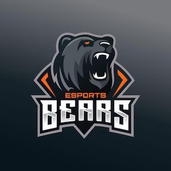 Niedźwiedź e sportowe logo