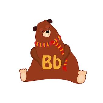 Niedźwiedź. funny alphabet, animal
