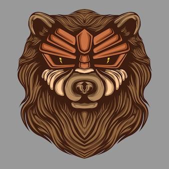 Niedźwiedź głowa ilustracja