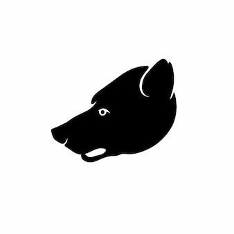 Niedźwiedź głowy logo symbol szablon projektu tatuaż ilustracja wektorowa