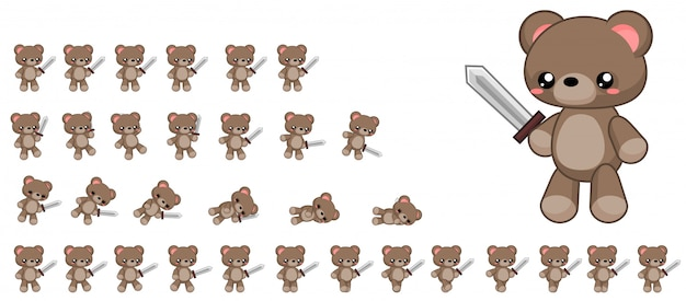 Niedźwiedź gra sprite