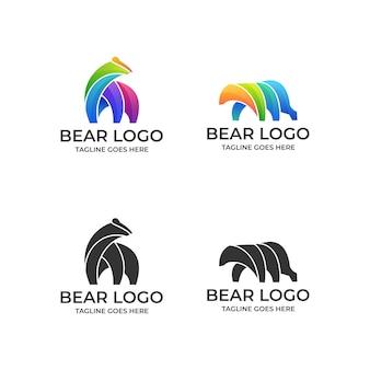 Niedźwiedź kolorowy s szablon