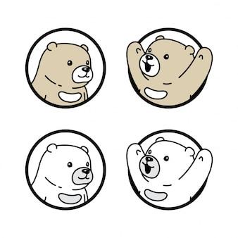 Niedźwiedź kreskówka polarny okno postać teddy ilustracja
