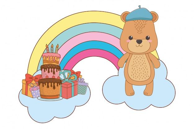 Niedźwiedź kreskówka z kapeluszem