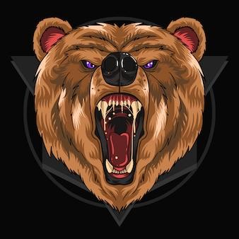 Niedźwiedź krzyk głowy