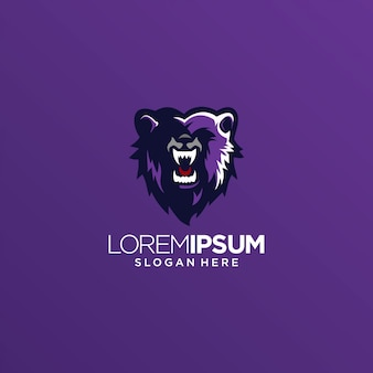 Niedźwiedź lew tygrys logo wektor