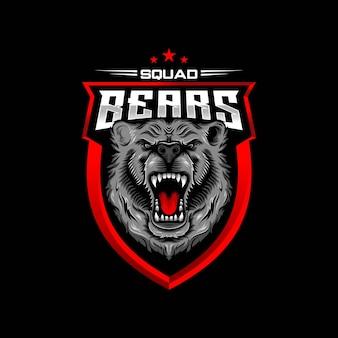 Niedźwiedź logo esport