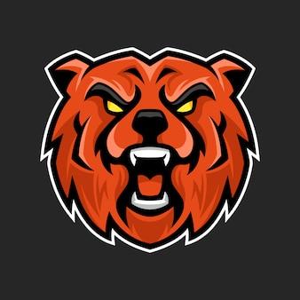 Niedźwiedź logo maskotka