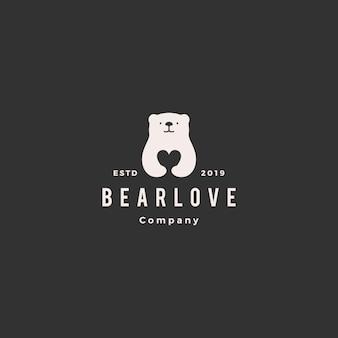 Niedźwiedź logo miłości
