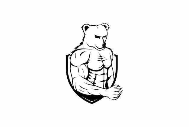 Niedźwiedź muskularny logo