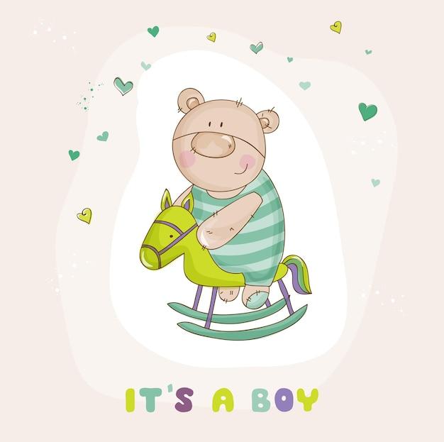 Niedźwiedź na koniu baby shower