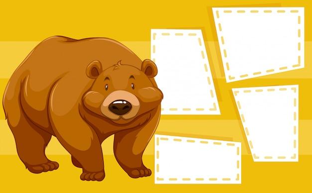 Niedźwiedź na pustej notatce