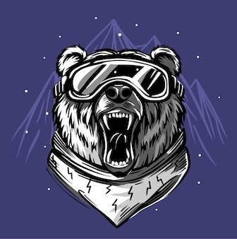 Niedźwiedź narciarz.