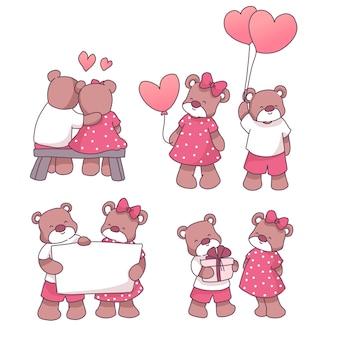 Niedźwiedź para zakochanych