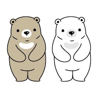 Niedźwiedź polarny charakter ilustracja kreskówka