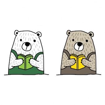 Niedźwiedź polarny, czytanie książki