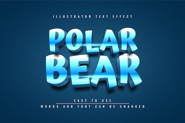 Niedźwiedź polarny - edytowalny efekt tekstowy