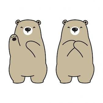 Niedźwiedź polarny ilustracja kreskówka