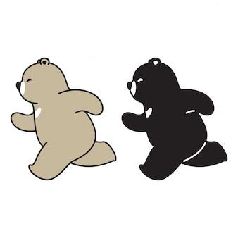 Niedźwiedź polarny kreskówka działa