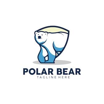 Niedźwiedź polarny logo gotowe do użycia