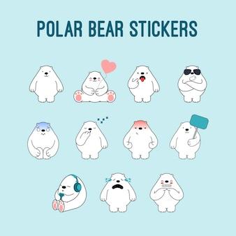 Niedźwiedź Polarny Naklejki Premium Wektorów