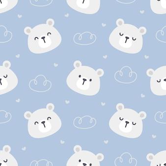Niedźwiedź polarny tło wzór