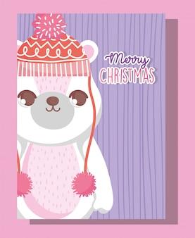 Niedźwiedź polarny wesołych świąt