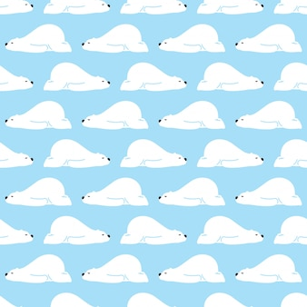 Niedźwiedź polarny wzór spania