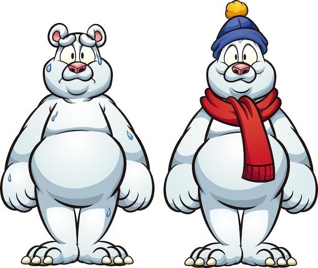 Niedźwiedź Polarny Premium Wektorów