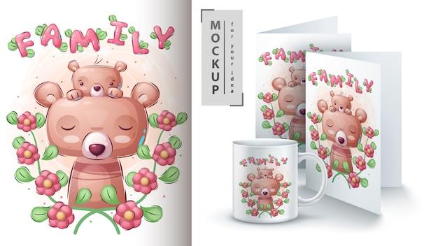 Niedźwiedź rodzinny - plakat i merchandising.