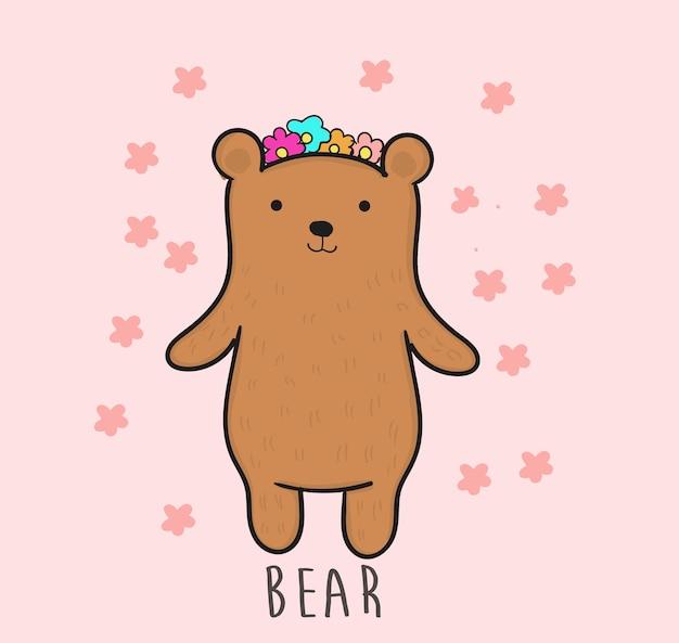 Niedźwiedź rysunek styl wektor