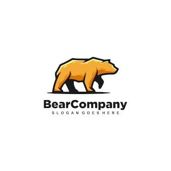 Niedźwiedź silny szablon wektor