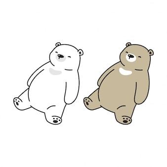 Niedźwiedź śpi kreskówka
