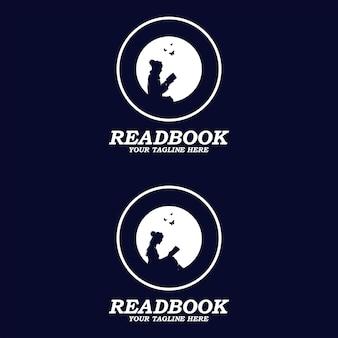 Niedźwiedź sylwetka zwierząt księżyc północ kreatywne streszczenie wektor logo