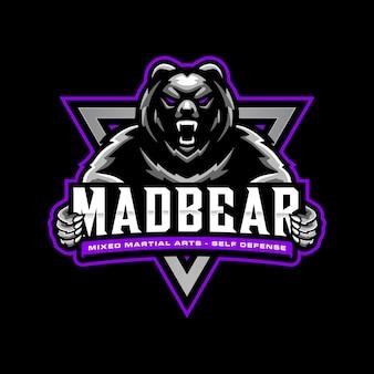 Niedźwiedź szablon logo