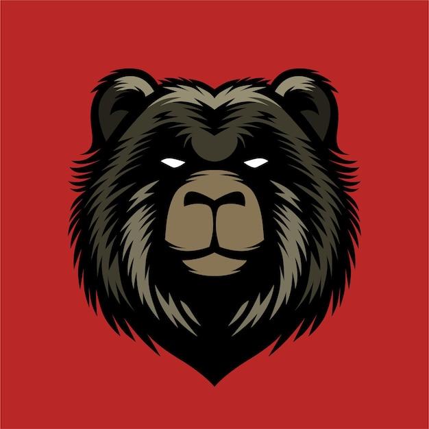 Niedźwiedź szczegółowa ilustracja do projektowania koszuli