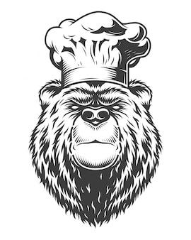 Niedźwiedź w stylu vintage logo
