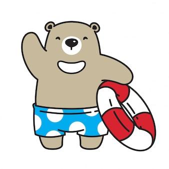 Niedźwiedź wektor ikona niedźwiedź polarny