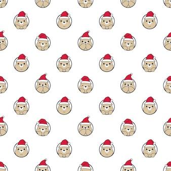 Niedźwiedź wzór polarny boże narodzenie santa claus