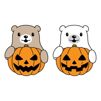 Niedźwiedź z dyni halloween
