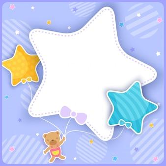 Niedźwiedź z gwiazdowym balonem