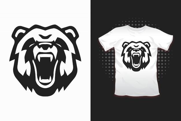 Niedźwiedź z nadrukiem na koszulkę