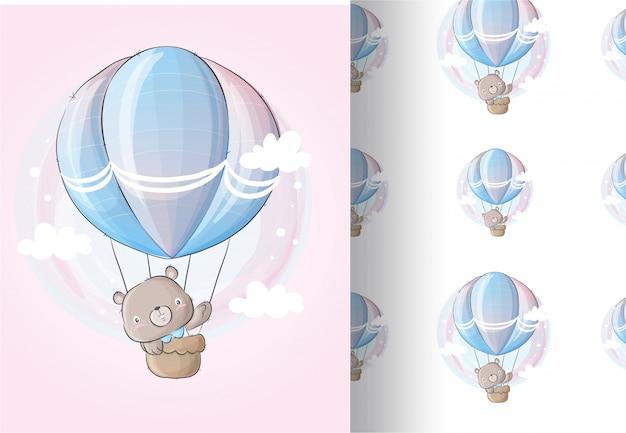 Niedźwiedź zwierzęcy latać na balonie