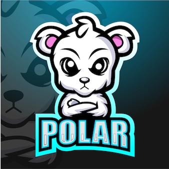 Niedźwiedzia polarnego maskotki esport ilustracja